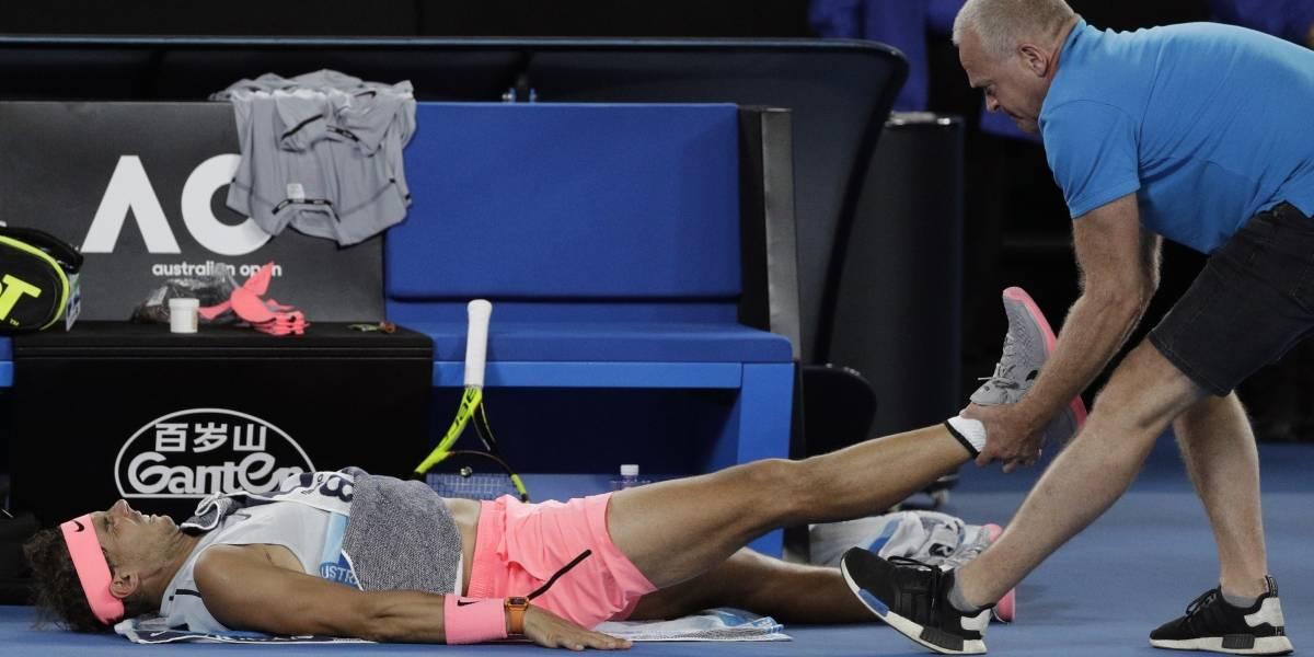 Rafael Nadal estará tres semanas fuera del circuito tras retirarse por lesión en Australia
