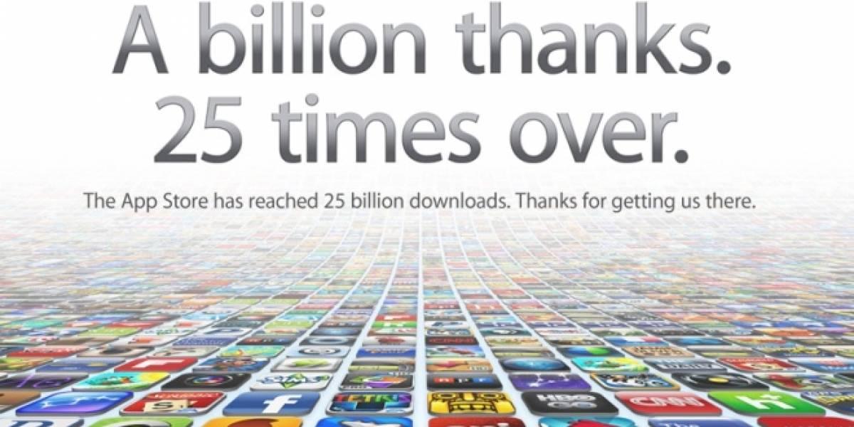 Apple celebra sus 25.000 millones de descargas desde la App Store