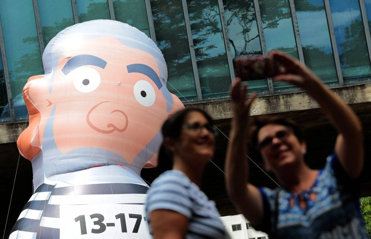 Ato contra Lula em São Paulo Leonardo Benassatto/Reuters