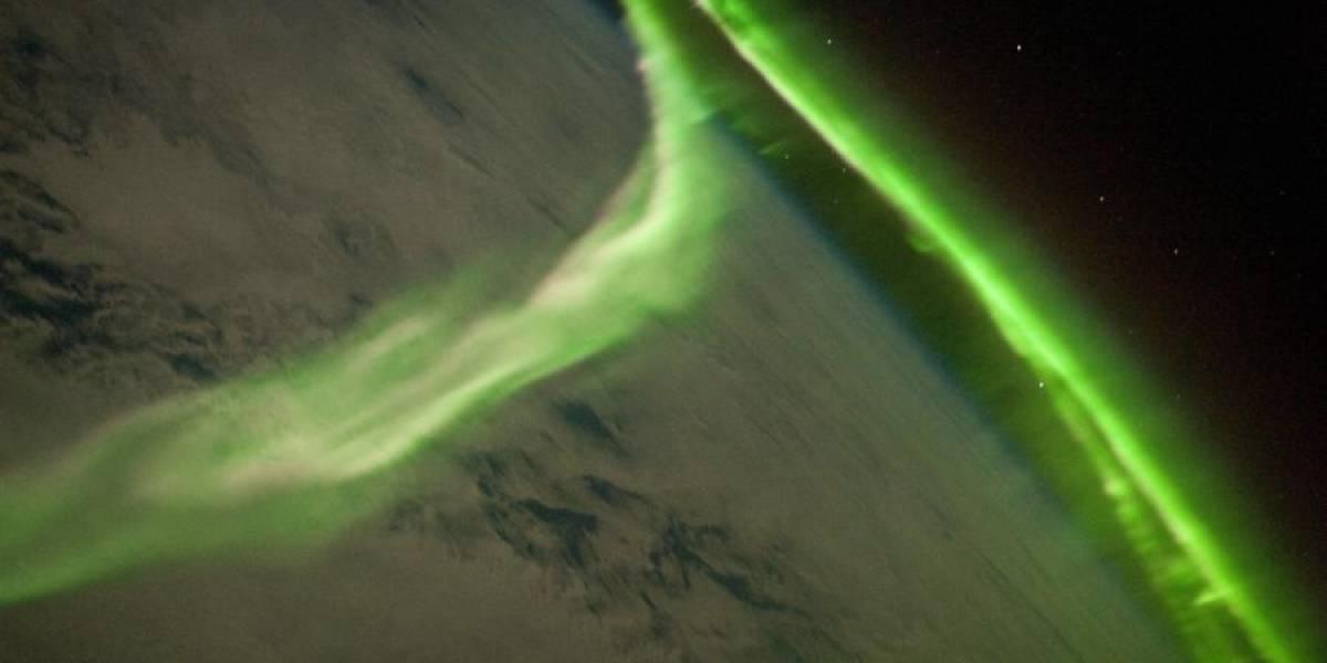 La Aurora Austral desde el espacio