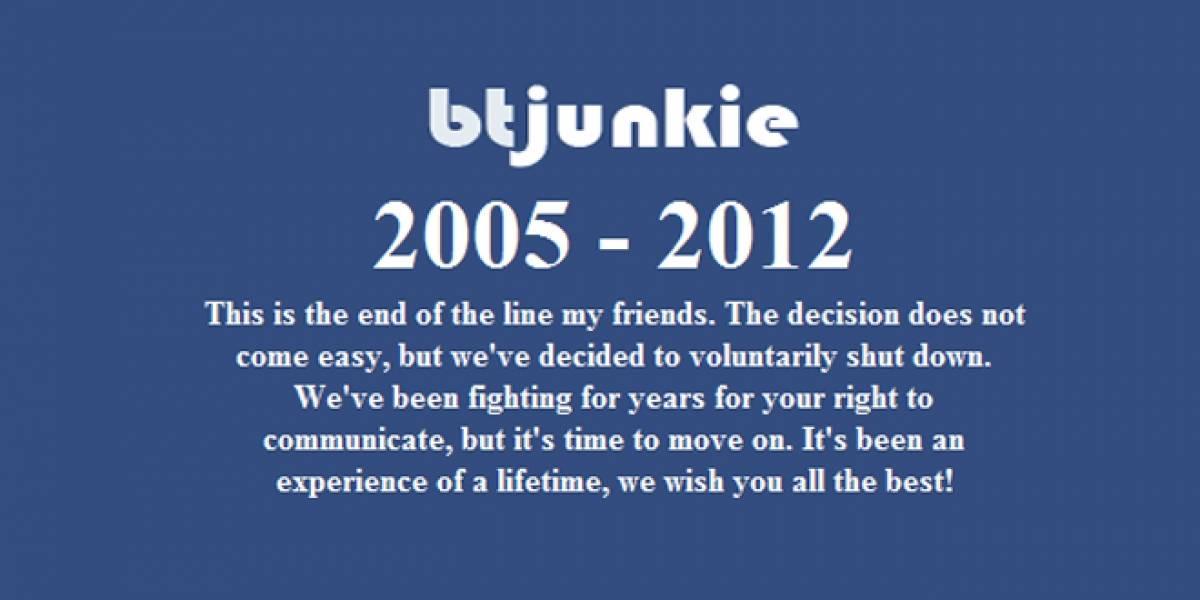 Cierra BTjunkie, uno de los sitios más grande para buscar torrents