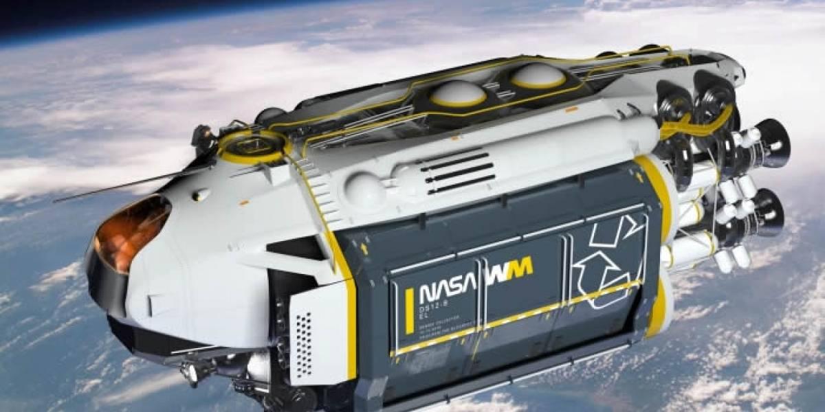 El camión de la basura para el espacio tiene de todo para limpiar la órbita