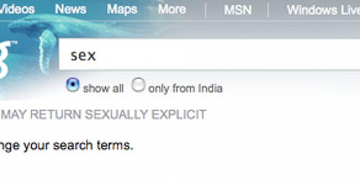 """Bing se rehúsa a buscar """"sexo"""" en India"""