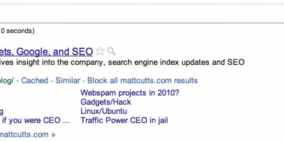 Google permitirá bloquear sitios para que no aparezcan en los resultados de búsqueda