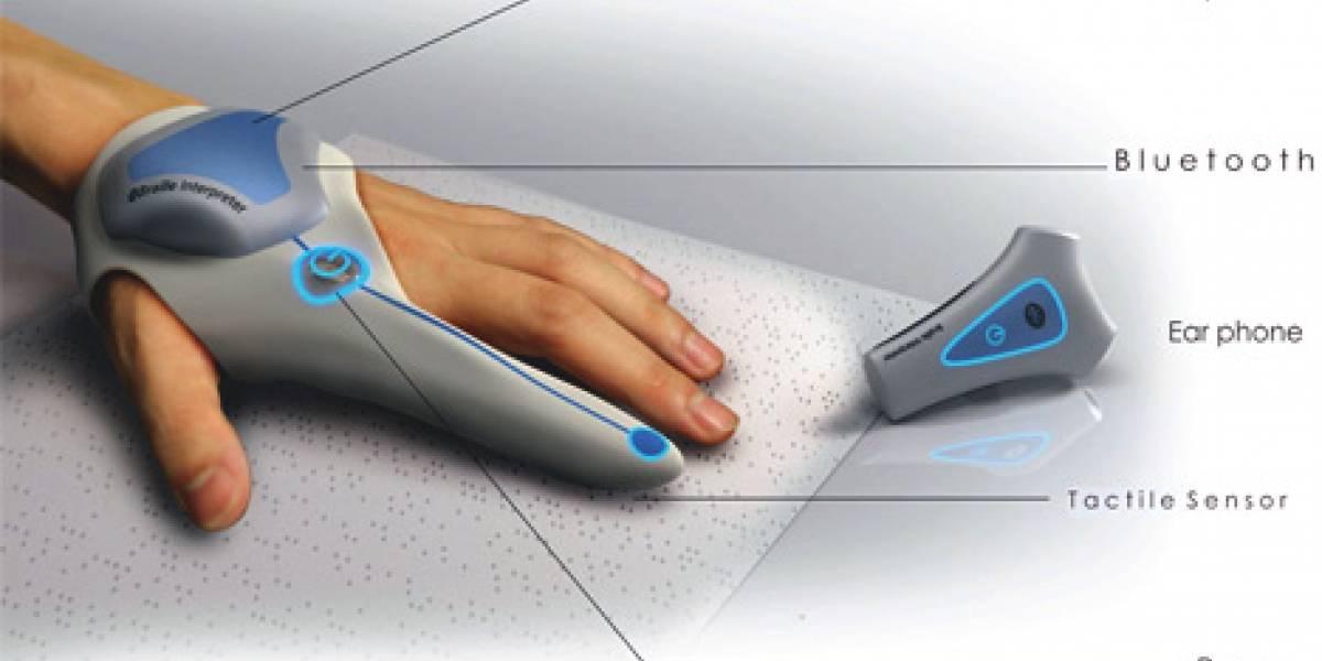 Concepto: Interprete de Braille facilitando la vida al invidente