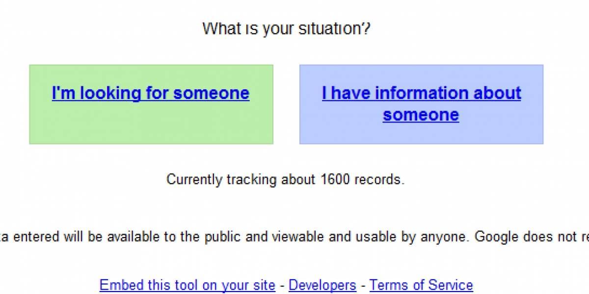 Google lanza buscador de afectados tras el terremoto de Japón