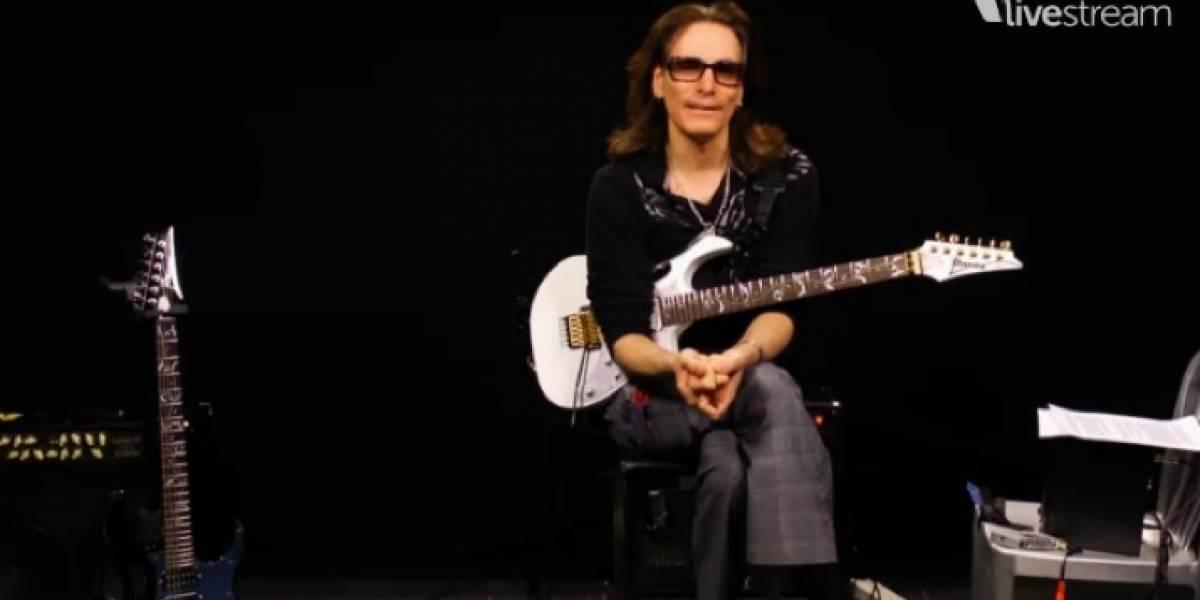 Steve Vai hace la clase de guitarra más grande de la historia por Livestream