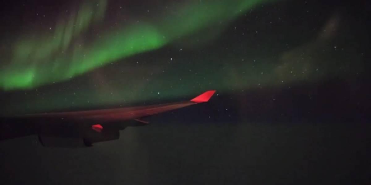Video time-lapse de vuelo desde San Francisco a París