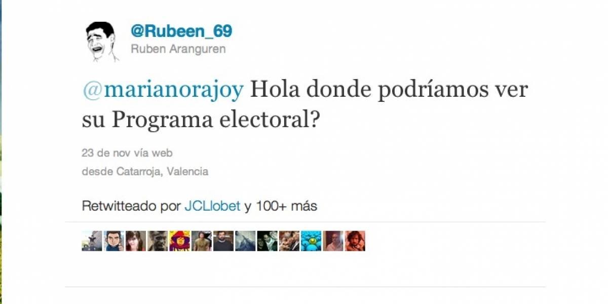 Polémica respuesta de Rajoy a un joven en Twitter