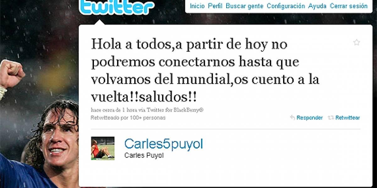 """Prohíben a los jugadores de la selección de España """"twittear"""" durante la Copa Mundial de Fútbol"""