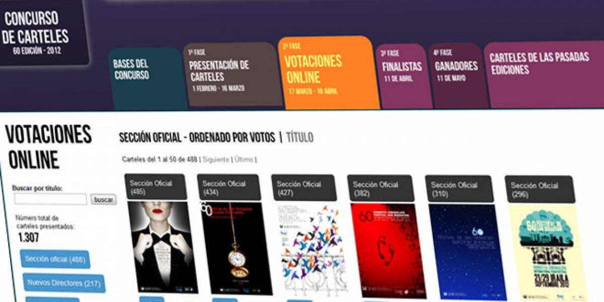 Los carteles para el Festival de Cine de San Sebastián se votarán vía Internet