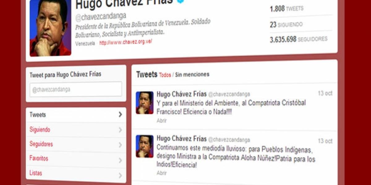 Hugo Chávez usa Twitter para nombrar nuevos ministros