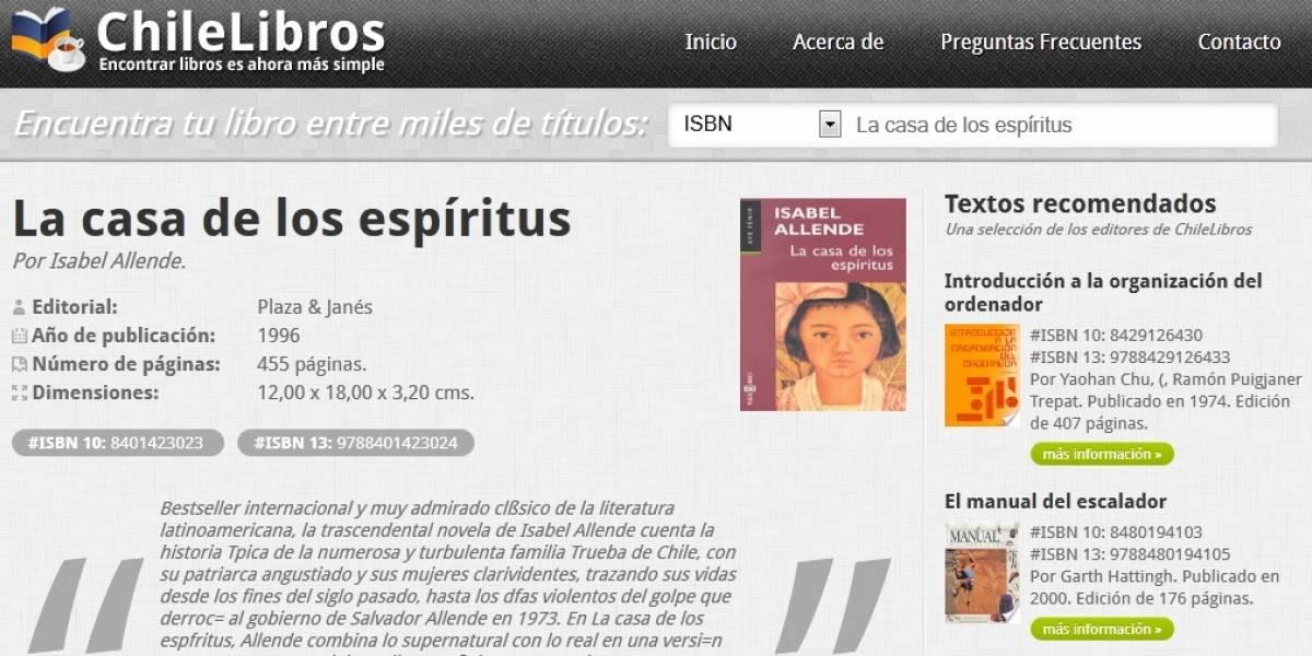 Chilelibros: Un buscador de libros por ISBN desarrollado en HTML5