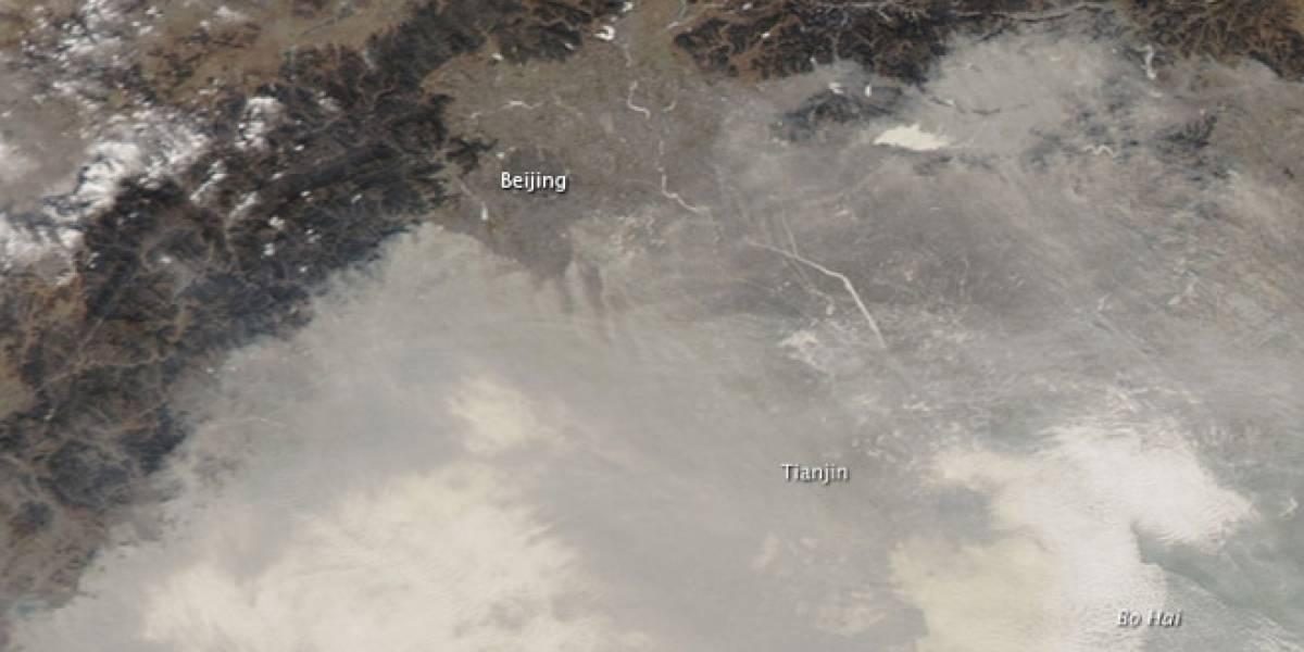 Impresentable: Una densa nube de contaminantes cubre a China