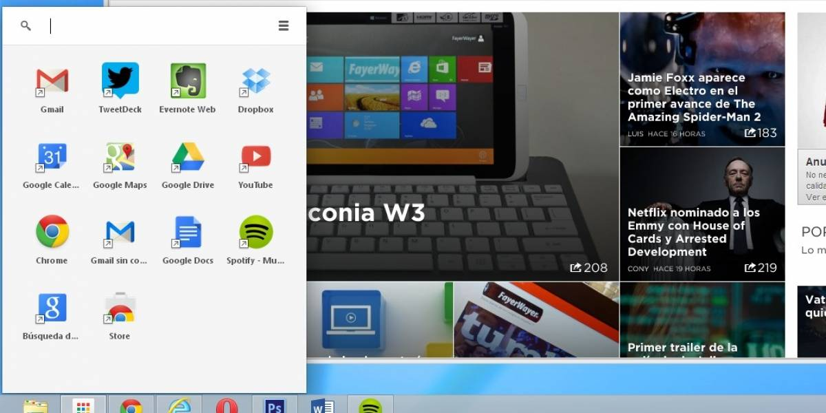 Chrome App Launcher disponible en Windows