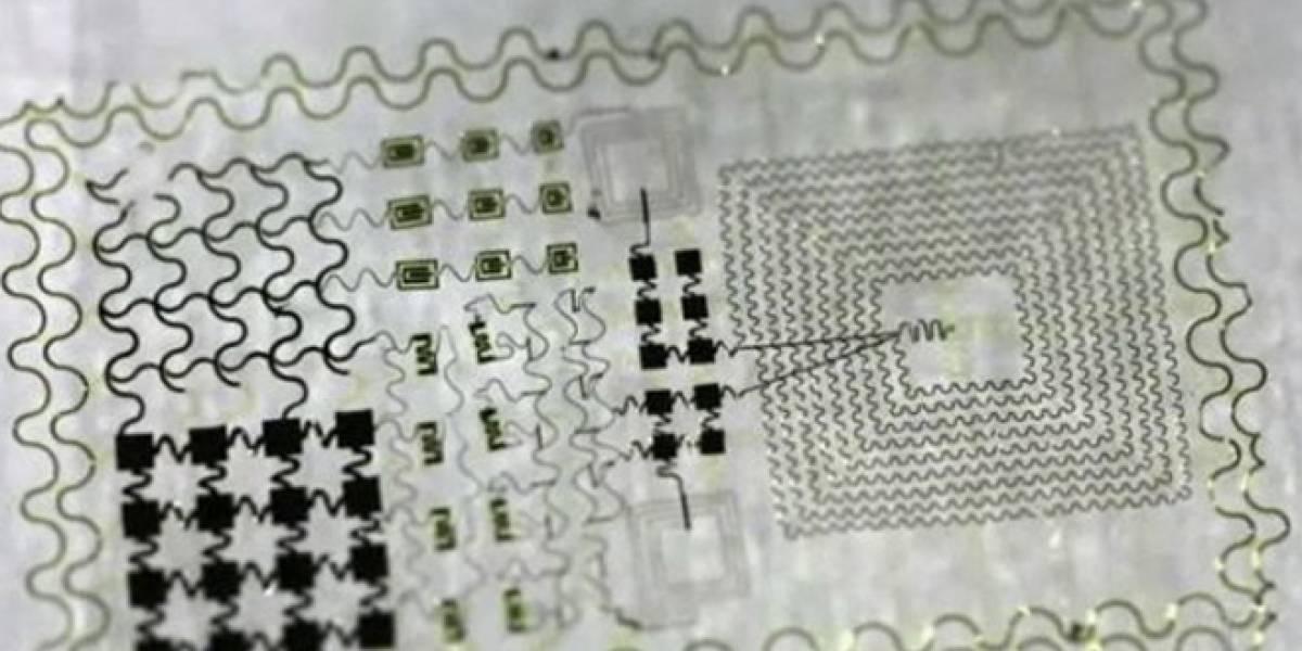 Diseñan circuitos electrónicos que se adhieren a los tejidos vivos