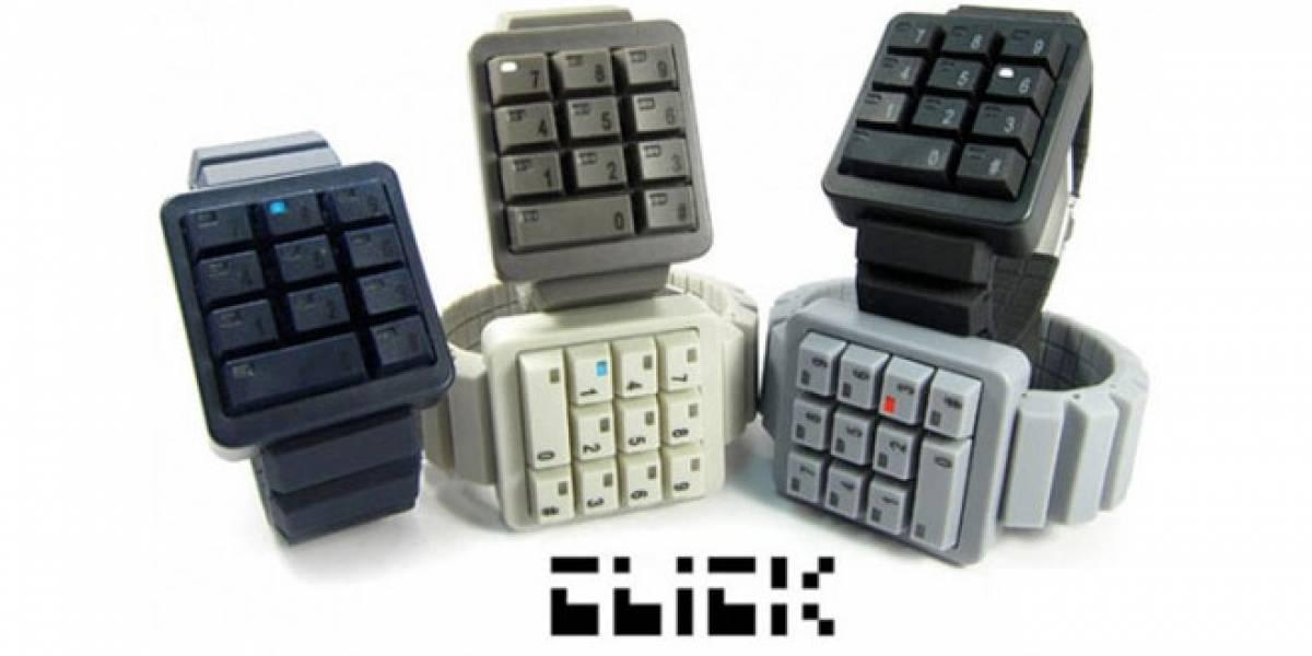 Ponte retro con este reloj en forma de teclado numérico