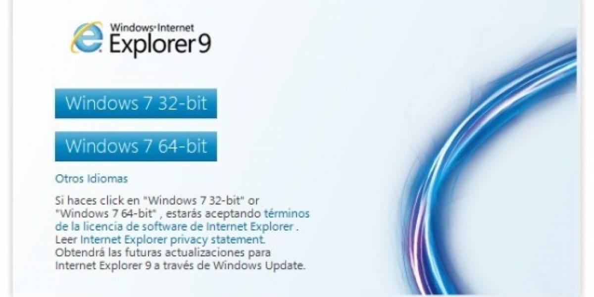 Internet Explorer 9 logra 2,3 millones de descargas en 24 horas