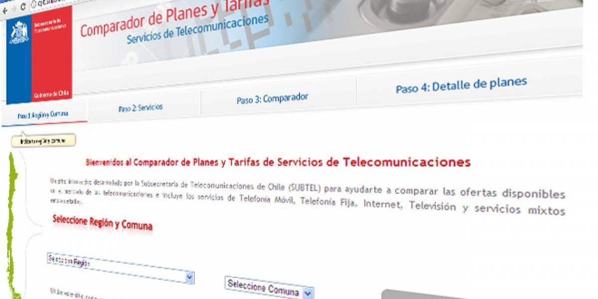 Chile: Subtel lanza sitio para comparar precios y planes de telefónicas
