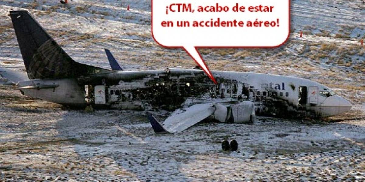 Pasajero del vuelo 1404 de Continental narra accidente por Twitter