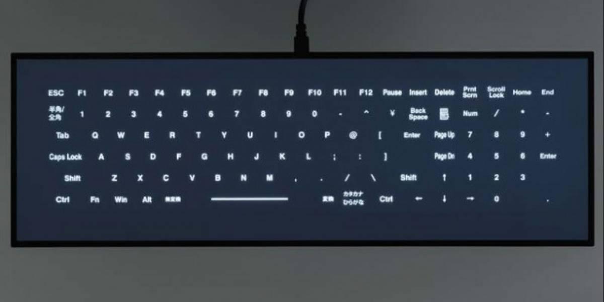 Cool Leaf, un teclado hecho de una pantalla táctil