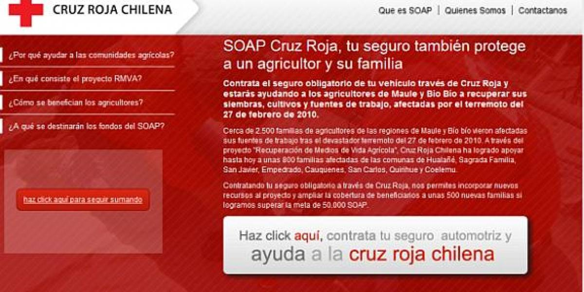 Chile: Compra tu SOAP con la Cruz Roja