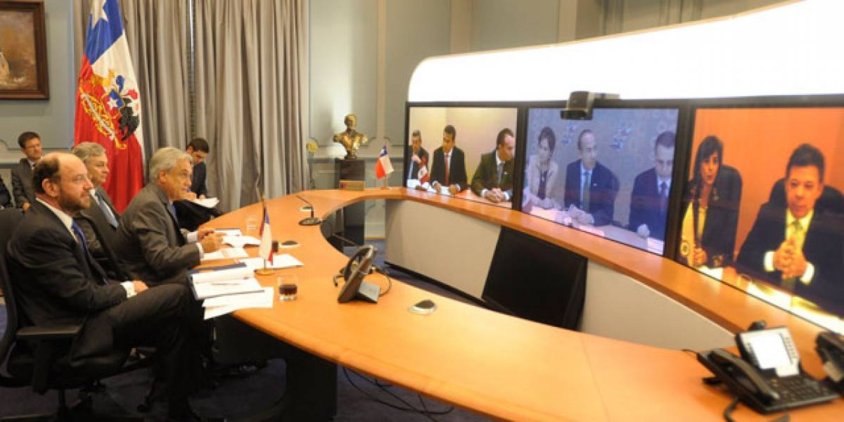 Los seis presidentes de la nueva Alianza del Pacífico realizaron la primera cumbre virtual en la región
