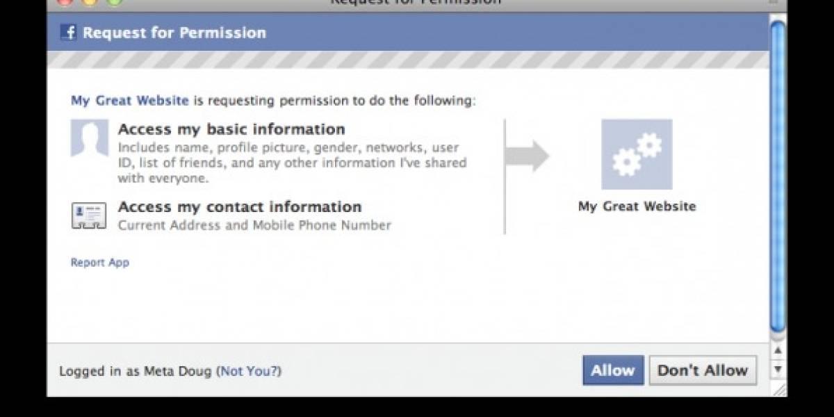 Facebook sigue trabajando para compartir teléfonos y direcciones de los usuarios