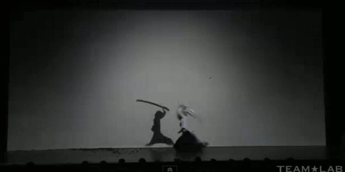 Increíble coreografía de espada con grafismo de sombras