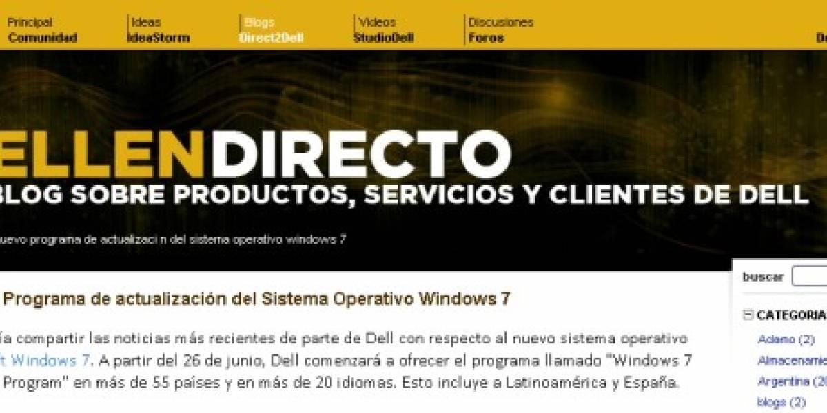 Dell ya ofrece actualizar los equipos a Windows 7