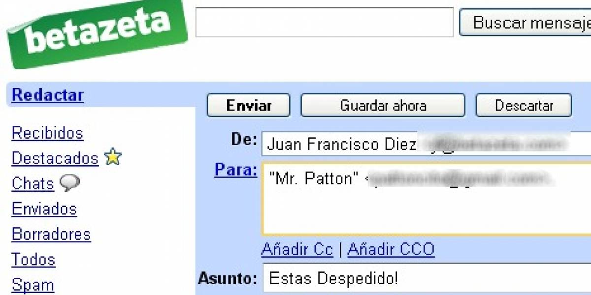 Mi Favorito 2008: Gmail
