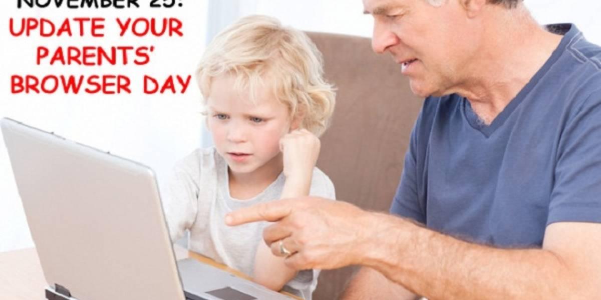"""Por una buena causa: Hoy es el """"Día de actualiza el navegador de tus padres"""""""