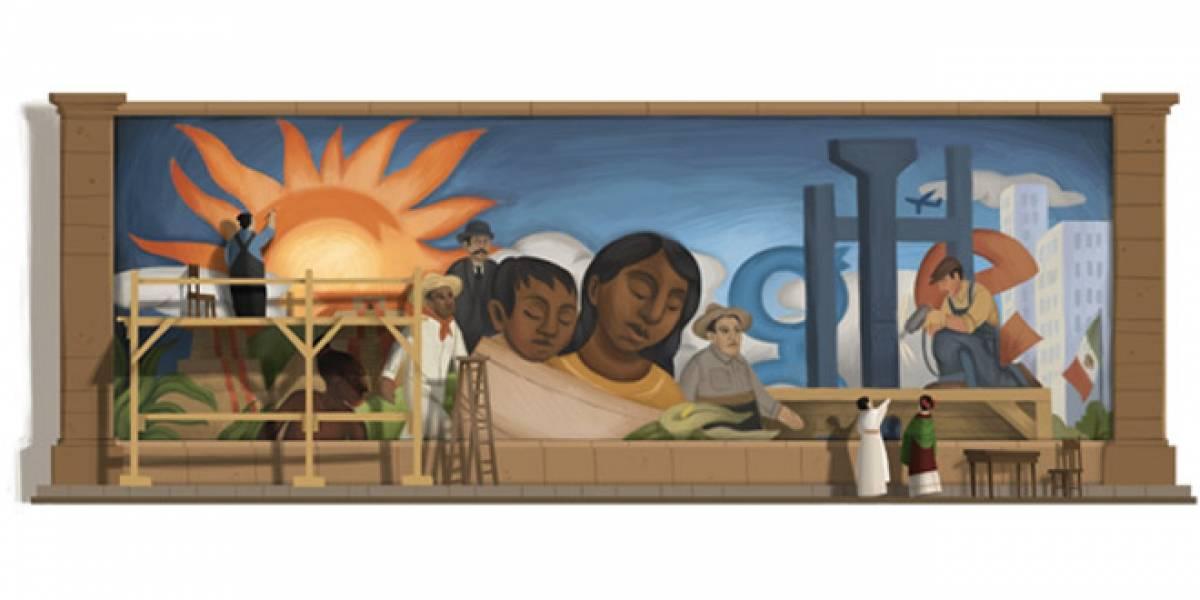 Google celebra los 125 años del natalicio de Diego Rivera