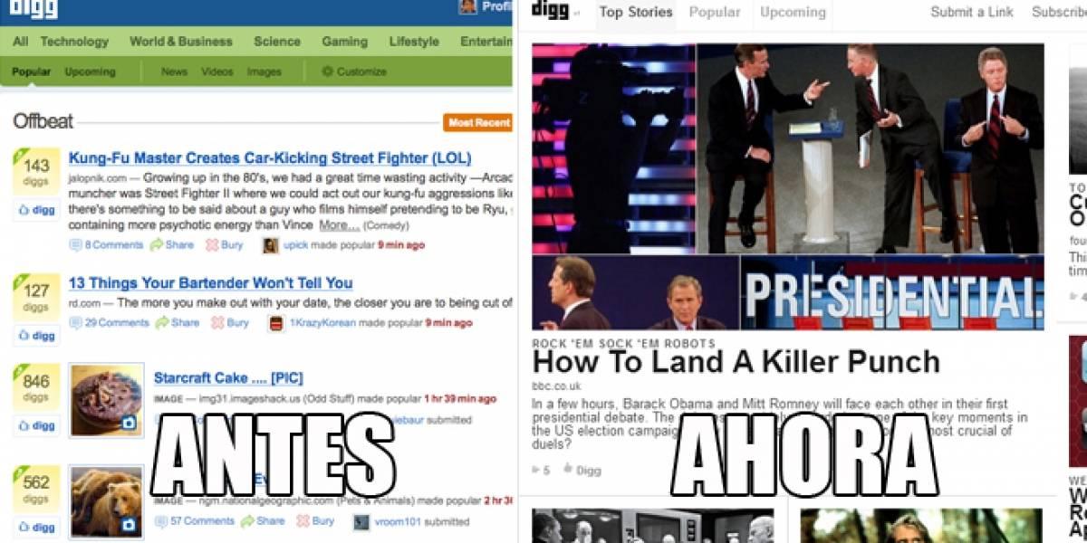 Así funciona el nuevo Digg.com