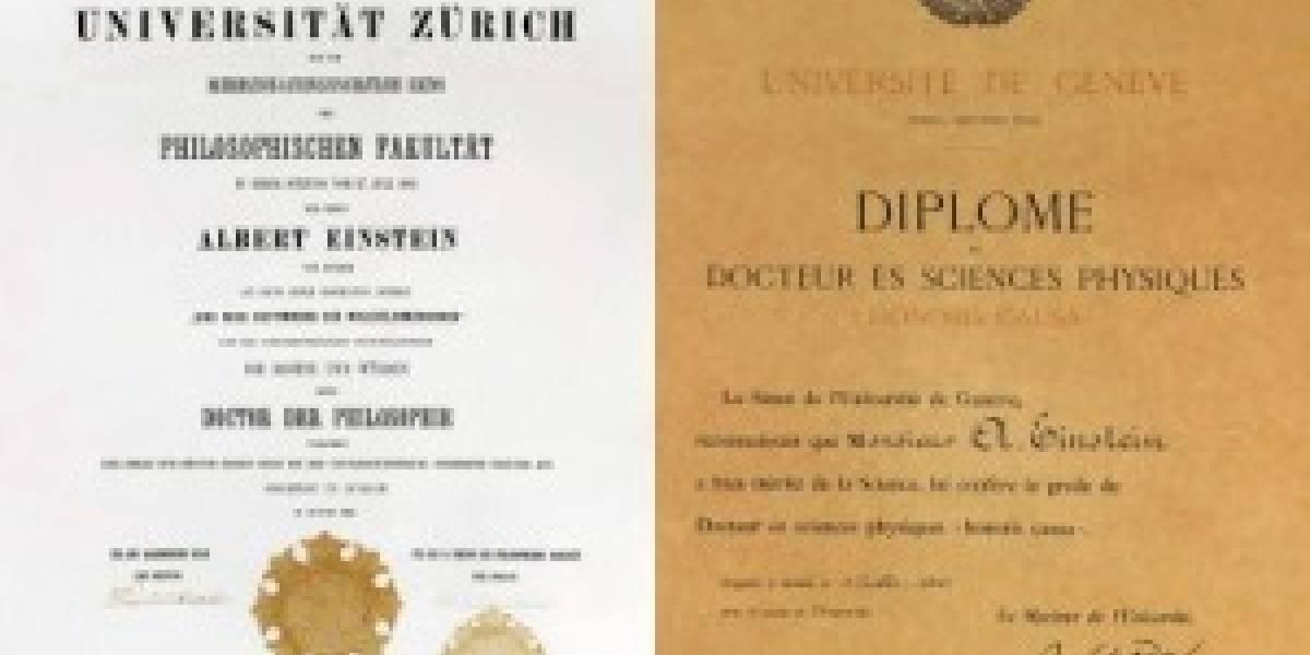 Subastan el diploma de doctorado de Albert Einstein