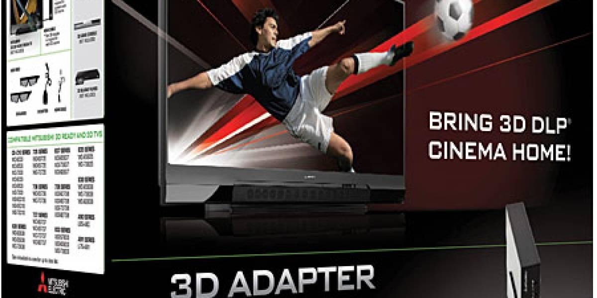 Mitsubishi lanza conversor 3D para sus televisores DLP y HDTV