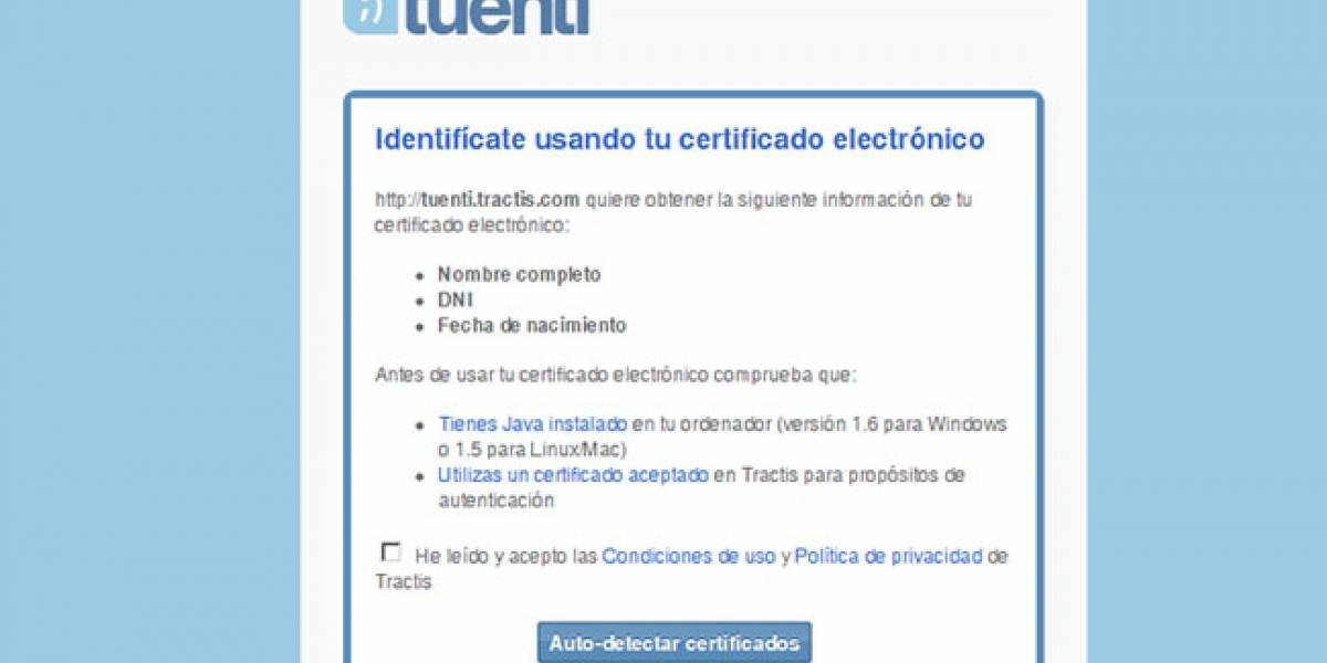 España: Tuenti verificará la identidad de sus usuarios con el DNI electrónico