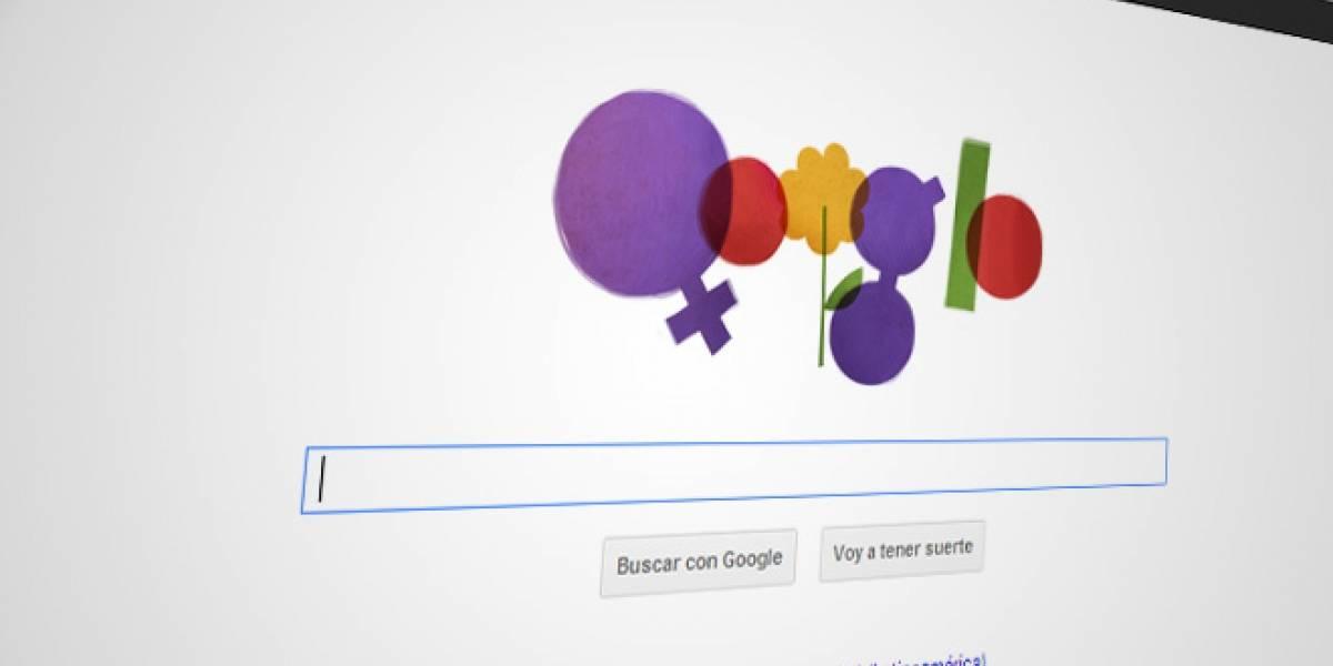 Google se rinde al encanto femenino en el Día Internacional de la Mujer