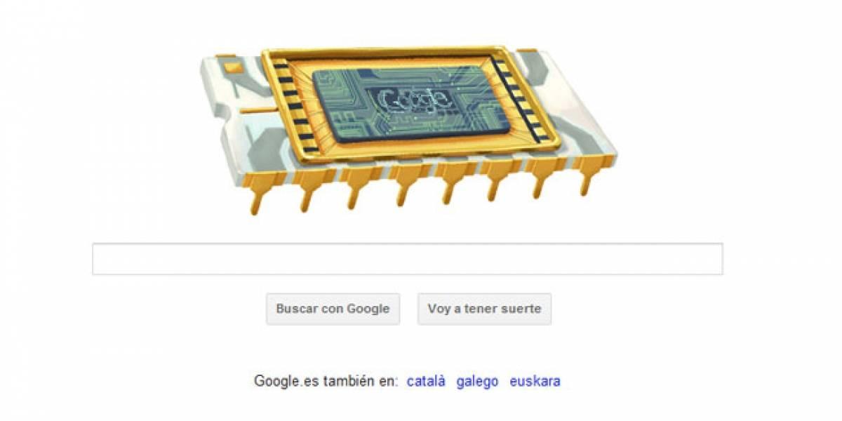Un doodle con forma de microchip rinde homenaje a Robert Noyce