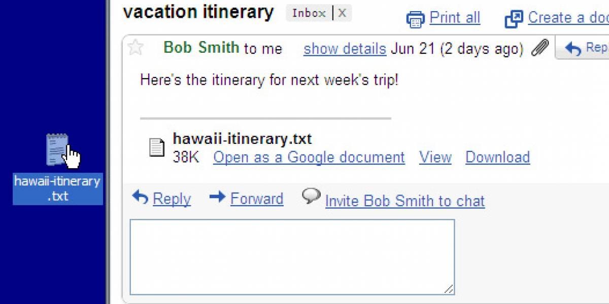 Arrastra archivos adjuntos en Gmail desde Google Chrome a tu escritorio
