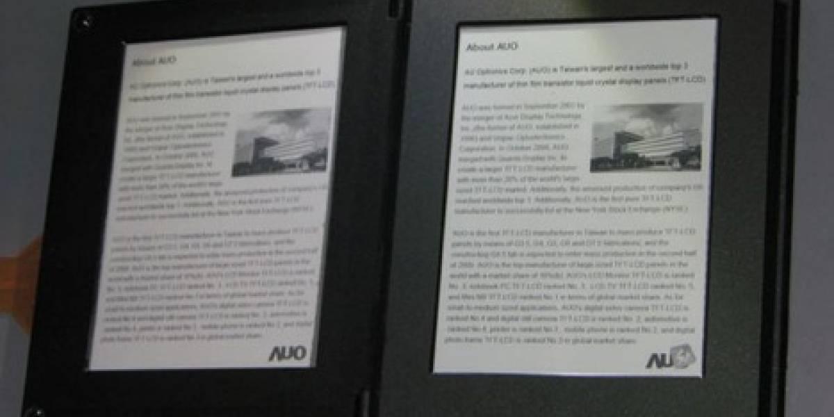 AU Optronics presenta un lector de ebooks dual y táctil