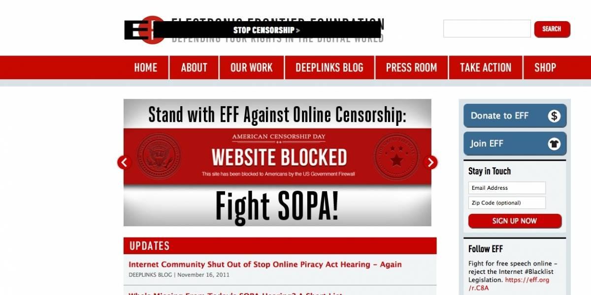 Periodistas de Estados Unidos también se oponen a la Ley SOPA que amenaza internet