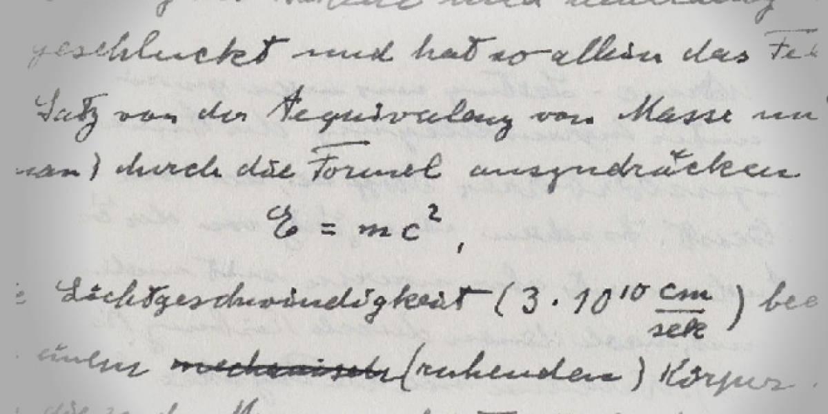 E=MC2 y otros manuscritos de Albert Einstein ya están en Internet