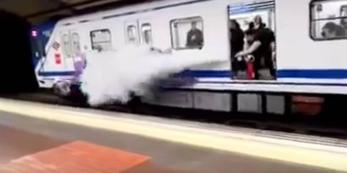 ¿Un ejemplo a seguir? Conductor del Metro de Madrid ahuyenta a grafiteros rociándolos con un extintor