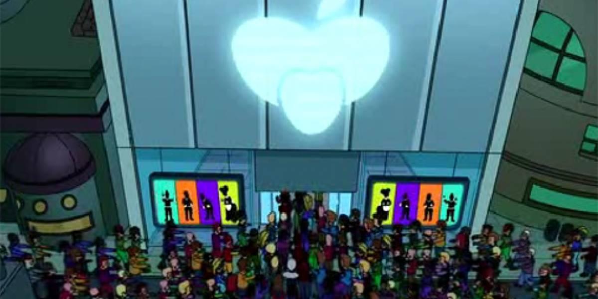 Referencias al eyePhone desaparecen de clips de Futurama
