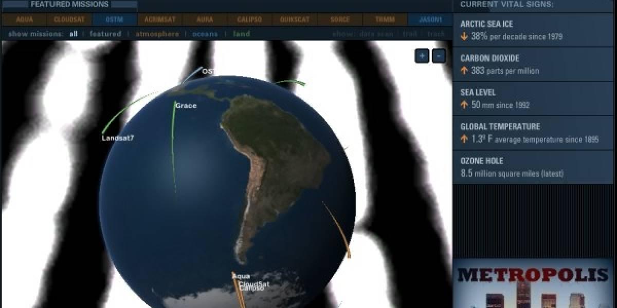La NASA pone sus satélites en tu navegador