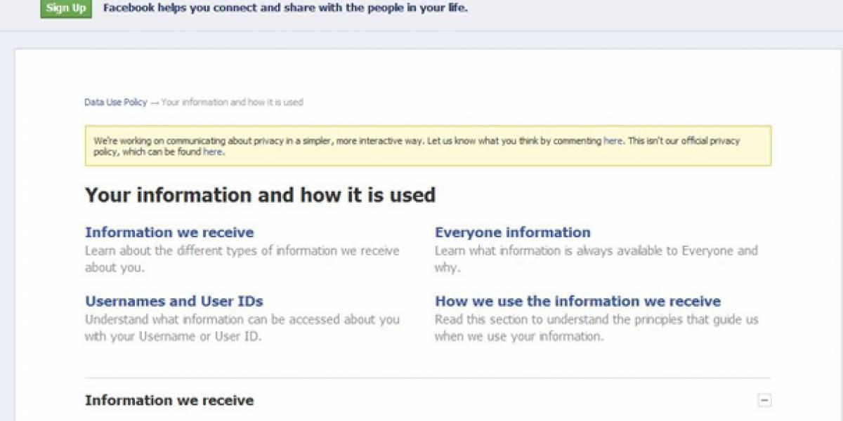 Facebook intenta simplificar sus políticas de privacidad