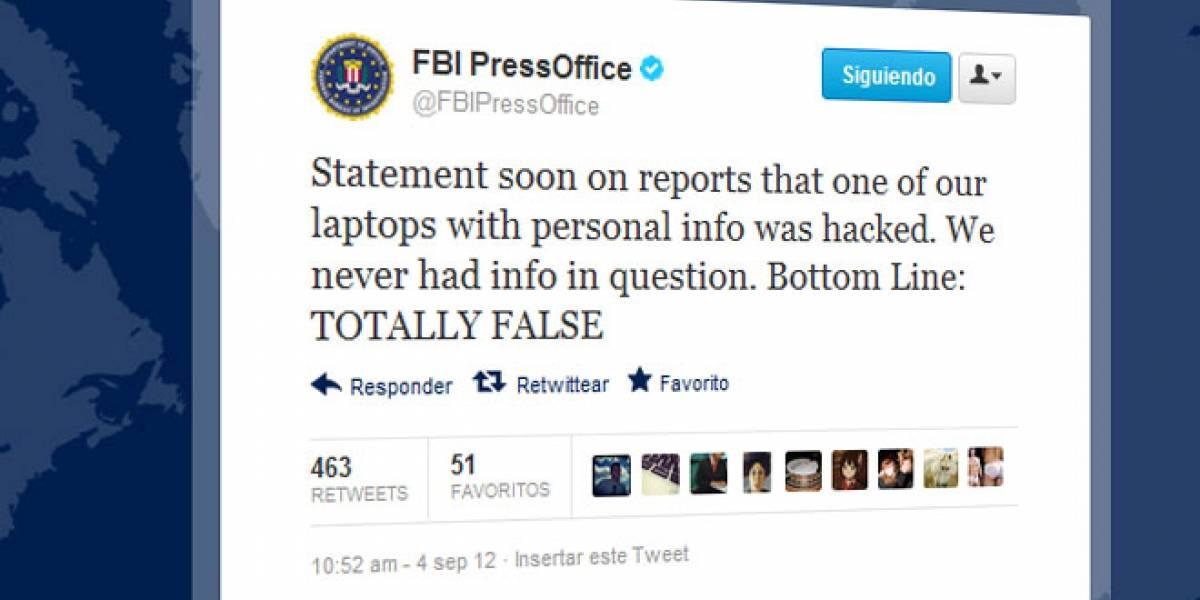 El FBI desmiente que AntiSec robara millones de ID de Apple del portátil de un agente