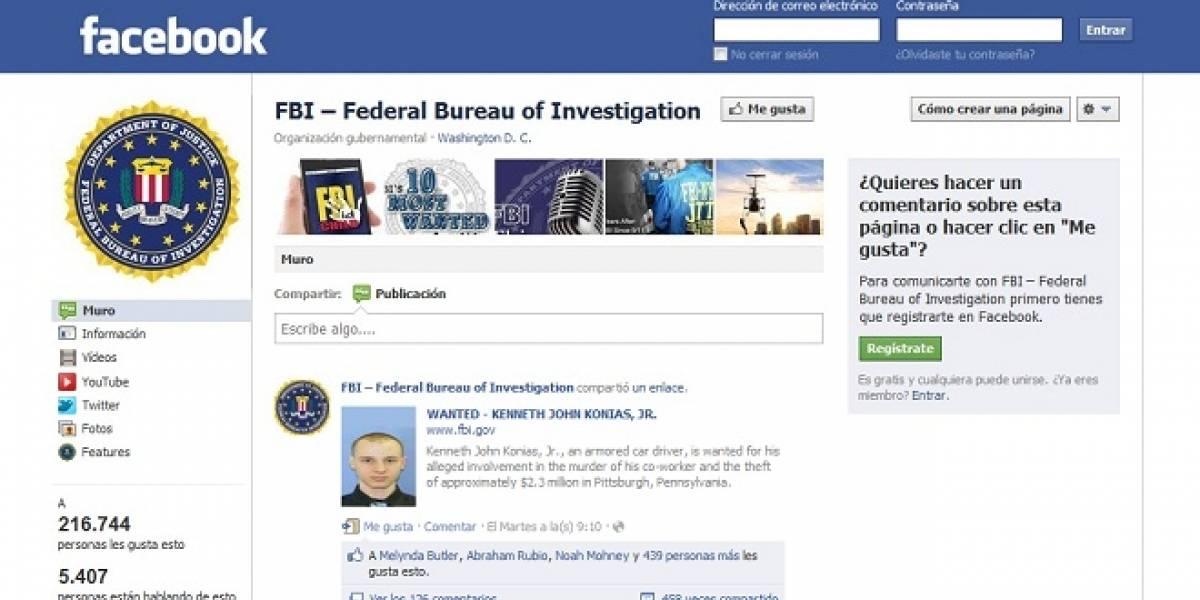 FBI usa redes sociales para capturar a sospechoso de asesinato y robo