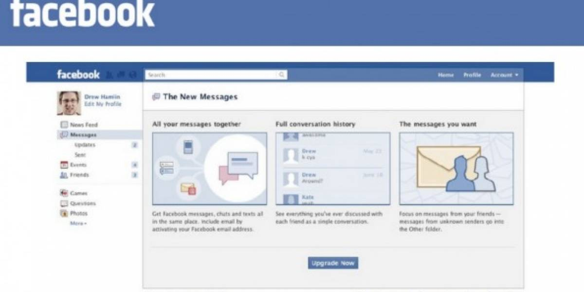 Es oficial: Facebook lanza servicio de mensajería